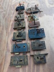Vintage Old Antique Brass And Iron Cabinet Cupboard Locks Keys Working Sold Single