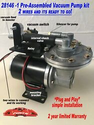 Electric Vacuum Pump Premium Kit For Power Brakes Easy Install Plug And Play