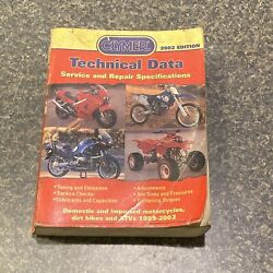 Clymer Technical Data Service Repair Domestic Import Dirtbikes Motorcycle Atv