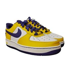Brand New Nike Air Force 1 Kobe Bryant Lakers Size 7 Youth Purple And Gold Af1 24