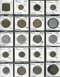 Coins - France - 20 Diff - 1923 To 1984 - 50 Cent. To 10 Francs - Fine To Bu