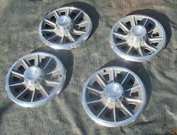 1965 Pontiac Le Mans Gto Tempest Wheel Covers 14 Hubcaps Oem 4 Speed 64 65