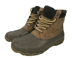 Mens Sperry Top Sider Waterproof Brewster Boots Sts14140 Brown Size 9.5m Y901