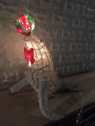 Vintage Animated Seal With Ball Christmas Outdoor Lighted Decoration Yard Decor