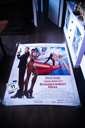 James Bond 007 A View To Kill 4x6 Ft French Rolled Movie Poster Original 1985