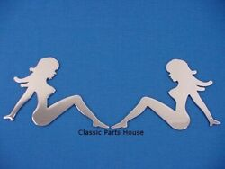 Nude Ladies 2 Silhouette Peel-n-stick Girlies 4 X 6
