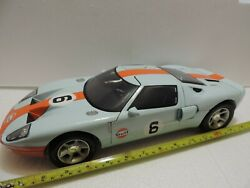 Ford Gt40 Gulf Racing 112 Scale Die Cast 15 Model Car In Excellent Condition