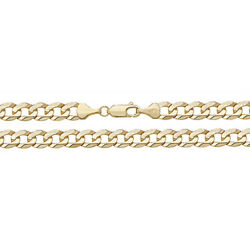 Solid 9ct Gold Curb Chain Gents Bracelet Thick Dads Mens Boys Jewellery Gift