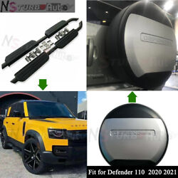 3pcs Fit For Defender 110 L851 2020 2021 Side Step Running Board Tire Tyre Cover