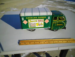 Rare Vintage 1950's American Express Banner Toys Truck Tin Litho Pressed Steel