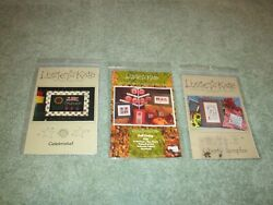 LIZZIE KATE CROSS STITCH CHART PACK YOU CHOOSE: Liberty Sampler charms Fall $12.95