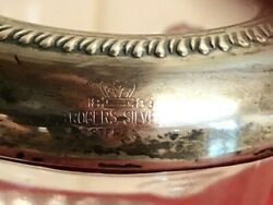 1883 Antique F B Rogers Silver Co Lion Head Pressed Toothpick Glass Container Wi