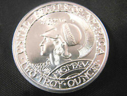2 Oz .999 Fine Silver Pan-pac Panama Pacific Exposition Minerva And Owl Coin Bu