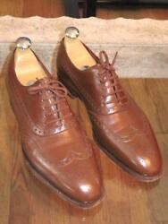 Mens John Lobb Westminster Oxford Brown Leather Shoes 7 E 8