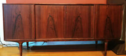Mid Century Danish Modern Teak Credenza Imported From Europe In The 1950and039s