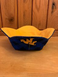 Handmade Quilted Wvu West Virginia University Reversible Microwave Bowl Cozy New
