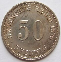 Top 50 Pfennig 1876 H In Uncirculated Rarely