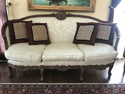 Rococo Deluxe Living Room Furniture Set Sofa Two Chairs Marble-top Table