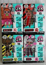Lol Surprise Jk Lot Diva Mc Swag Queen Bee Neon Qt - Complete Set Nib