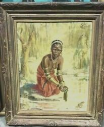 Antique Oil Painting By Listed South African Artist Kent Cottrell 1887-