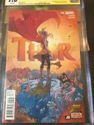 Thor 5 Cgc 9.8 Nm/m Ss Stan Lee, Jane Fosters Cover Wow One Of A Kind Only One