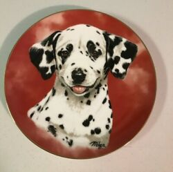 Princeton Gallery Dalmatian Plate Puppy Portrait Plate Collection Gallery A111