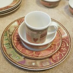 Pfaltzgraff 16pc Holiday Spice Plate Set Discontinued