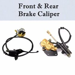 Front Rear Disc Brake Assembly Caliper Cylinder For 110cc 125cc Coolster Apollo