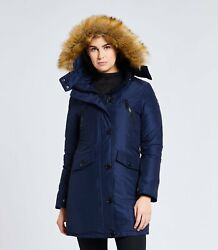 Womenand039s S/m North Aware Smart Parka New With Tags Classic Blue 1.0