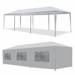 10'x30' Gazebo Durable Party Tent Wedding Outdoor Pavilion Cater Bbq Waterproof