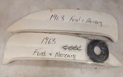 1963 Ford And Mercury Fender Skirts Reproduction Fibreglass Flush Mount Pair New