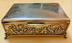 704 Gr. Vintage Massive Sterling Silver Collectible Cigar Box