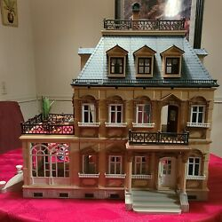 Playmobil Victorian Mansion Dollhouse 5300 With People And Furniture Vgc Playskool