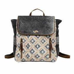 Myra Bag Upcycled Canvas and Hairon Backpack $47.99