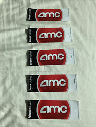 5x Five 5 AMC Black Movie Tickets IN HAND No Expiration Pack Lot