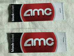 2x Two 2 AMC Black Movie Tickets IN HAND No Expiration Pack Lot