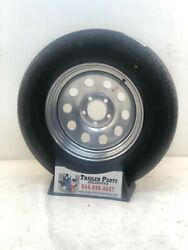 4- 15 Trailer Tire Wheel Lrc St205/75d15 6 Pl Tire Mounted On Silver Mod 5x5.5