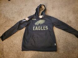 Authentic Philadelphia Eagles Salute To Service Military Sideline Hoodie Large