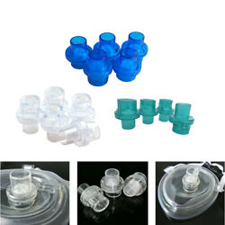 1000pcs Pocket Cpr Mask Inlet One-way Valve Cpr First Aid Training 22mm 3 Colors