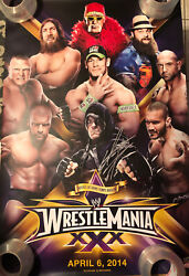 Wwe Wrestlemania 30 Poster Signed By Undertaker With 21-1 Inscription Jsa Auth