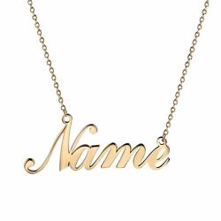 Women Stainless Steel Custom Name Personalized Nameplated Pendant Necklace Gift $9.99