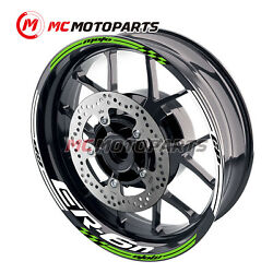 17and039and039 Wheel Rim Decal Stripe Tape Sticker For Kawasaki Er6n 2006-2017 13 14 15