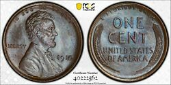 1910 Lincoln Cent Pcgs Ms66bn Lustrously Toned Gold Shield Top Pop Plate Coin