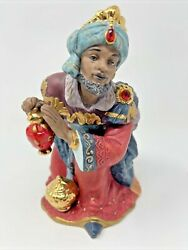 Kirkland Porcelain Nativity Replacement Piece Only Wise Man King Kneeling 75177