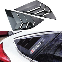 2x Fit For Ford Focus St Rs Mk3 12-18 Rear Side Window Quarter Louver Cover Trim