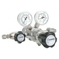 Harris Kh1102 Specialty Gas Lab Regulator, Two Stage, Cga-590, 0 To 125 Psi,