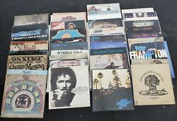 Lot Of 40+ Record Albums 33 1/3 Rpm Rock And Roll Lp's