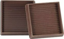 4pack Shepherd Hardware 9076 2-inch Square Rubber Furniture Cups