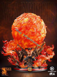B.p Studio One Piece King Of Fire Portgasandmiddotdandmiddot Ace Gk Collector Resin Led Statue