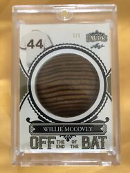 2020 Leaf Willie Mccovey 1/1 Lumber Kings Off The Game Used Bat Knob Amazing